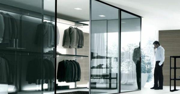 monochromatisch glas kleiderschranksysteme begehbarer, Schlafzimmer entwurf
