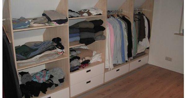 Kast schuine wand slaapkamer pinterest kast zolder en slaapkamer - Amenager kast ...