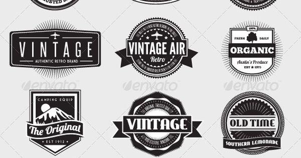 Heel veel 'vintage' logo's. Het komt steeds vaker terug tegenwoordig. Ik hou
