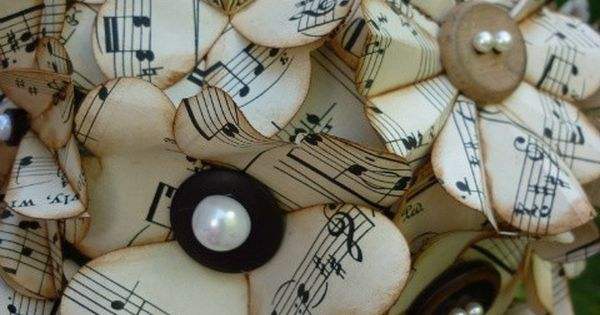 For music lovers everywhere. Sheet music flowers! - center pieces??