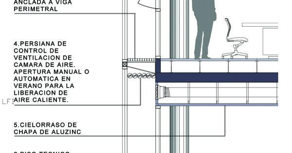 Banco provincial de neuqu n doble piel cortes 2d o for Arquitectura parametrica pdf