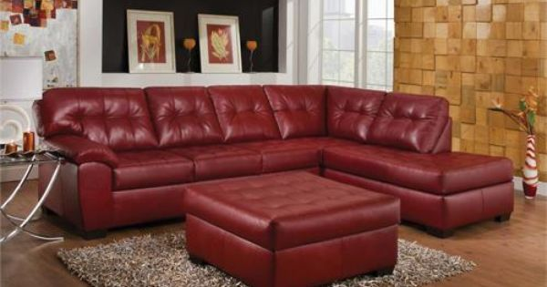 Simmons 3 Piece Barcelona Sectional amp Ottoman Furniture
