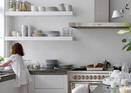 kitchen open shelving | natural modern interiors: Open Kitchen Shelves Ideas