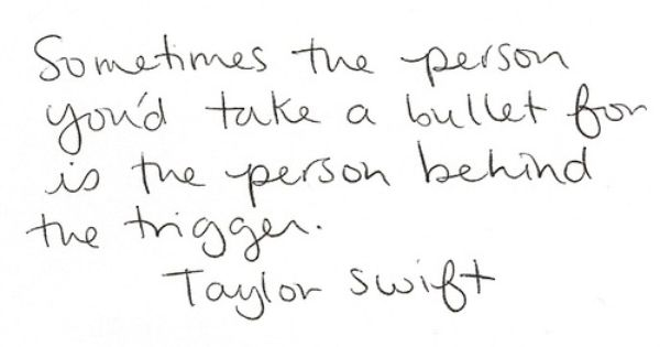 Taylor Swift. True Words
