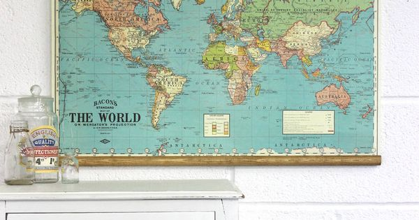 Bacon S Map Of The World Wall Hanging I Think This Would