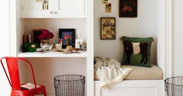 Kantoor in woonkamer inbouw tussen woonk en keuken of als - Keuken en woonkamer in dezelfde kamer ...