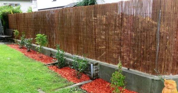 Beeteinfassungen Beetumrandung Beetabgrenzung Aus Naturgeflecht Naturzaun Gartengestaltung Vorgarten