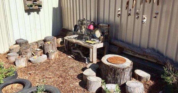 Kinderspielplatz Garten Kuche Alte Utensilien Play Area Backyard Backyard For Kids Outdoor Play Areas
