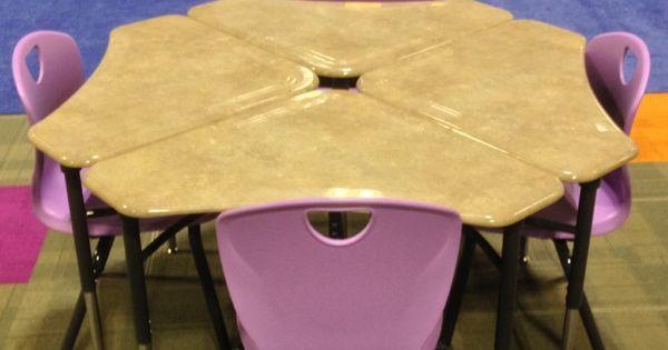 Scholarcraft Thrive Chair With Kaleidoscope Triangle Desk