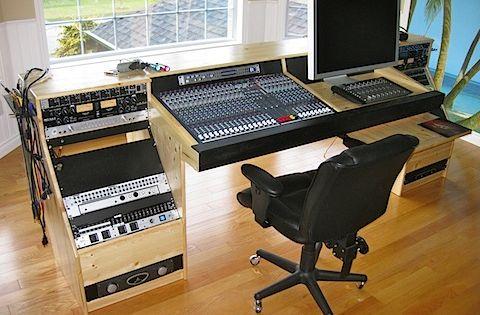 diy recording console stand google search studio desk. Black Bedroom Furniture Sets. Home Design Ideas