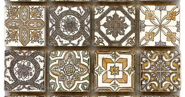 Spanish Revival Accent Tile Deco Dot Naturalstone