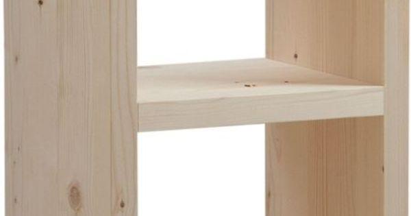 cubes de rangement en bois brut sur jardindeco ce casier en bois brut dispose de deux niveaux. Black Bedroom Furniture Sets. Home Design Ideas
