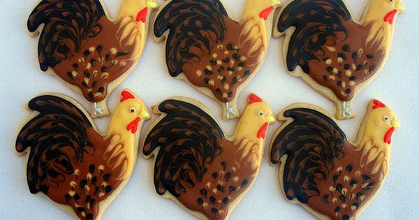 Rooster Cookies - Black Choc, Milk Choc, White Chocolate ...