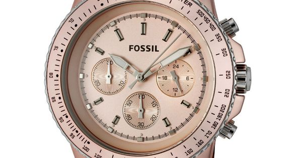 Fossil Ladies' Stella Chronograph Watch In Blush - Beyond the Rack -