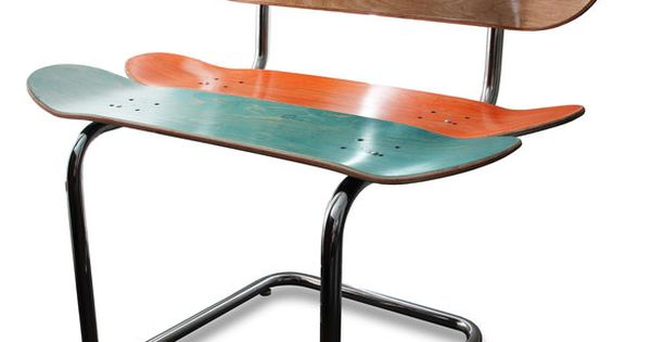 Rail rider skateboard chair design pinterest skateboard for Skateboard chair plans