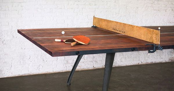Our industrial style ping pong table is a multi purpose - How much space for a ping pong table ...