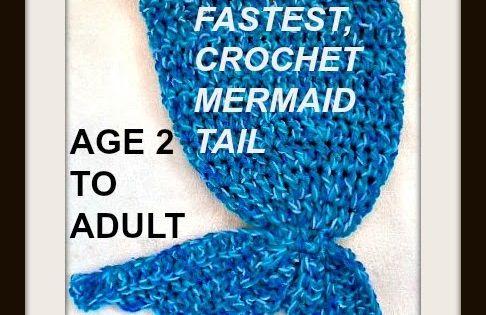 Easiest Fastest Crochet Mermaid Tail Or Blanket Watch