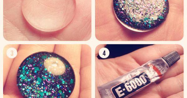 DIY Nail Polish Jewelry - I keep seeing really detailed nail art.