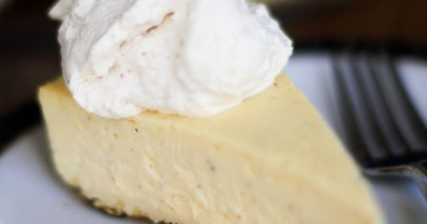 Eggnog cheesecake, Cheesecake and Smooth on Pinterest