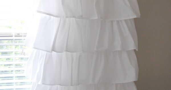 $8 diy ruffle curtain tutorial - this would be sweet in a