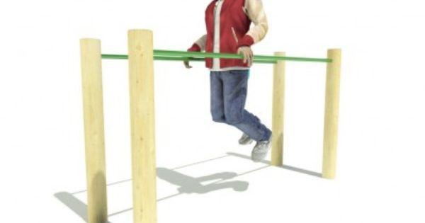 Wooden Frame Outdoor Dip Bars