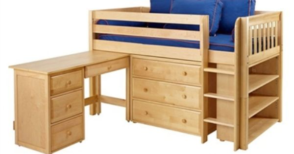 Maxtrix Box3l Low Loft Bed Bed Frames Matrix Furniture Low Loft Beds Bunk Bed With Desk Bunk Beds With Stairs