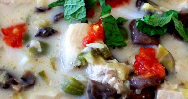 Spicy Coconut-Lime Noodle Soup with Mushrooms and Tofu | I need my own ...