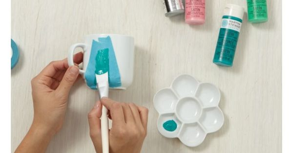 Learn to MAKE the Fanciful Forest Coffee Mugs from Martha Stewart Crafts
