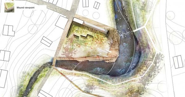 'Mound park in Ukmerge' / Landscape design competition for the mound park