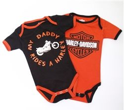 Harley Davidson Baby Clothes My Daddy Rides A Harley Leather Bound Online Harley Davidson Baby Harley Baby Clothes Baby Boy Body Suits