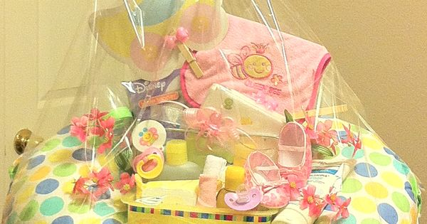 Baby Gift Box Empty : Baby girl unique gift basket good idea to use the empty