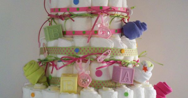 Diaper Cake: Baby shower gift delious