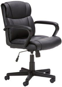 Amazon Com Amazonbasics Mid Back Office Chair Best Ergonomic Office Chair Most Comfortable Office Chair Office Desk Chair