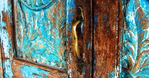 Rustic turquois door