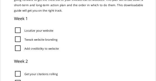 Marketing Action Plan Checklist marketing Plan Template - action plan template