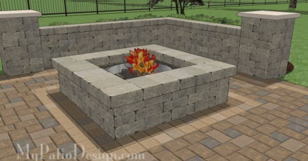 Concrete patio with fire pit designs what 39 s included for Buy outdoor fire pit