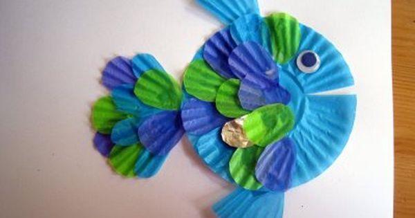 Cupcake Liner Fish And Mermaid Grab Those Fun