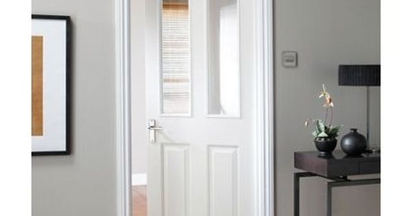 White Wood Internal Doors With Glass Panels For Connecting Kitchen To Living Room Doors White Interior Doors Internal Glass Doors Glass Doors Interior