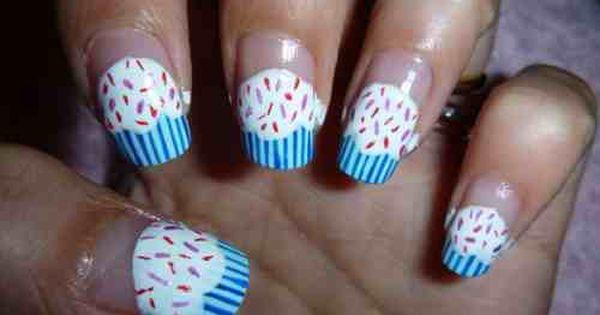 اظافر كيفية رسم الأظافر على شكل كاب كيك Nails Beauty