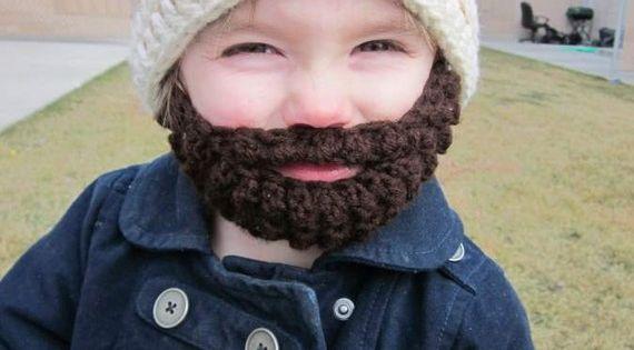 Crochet hat beard - I need a little boy - STAT!