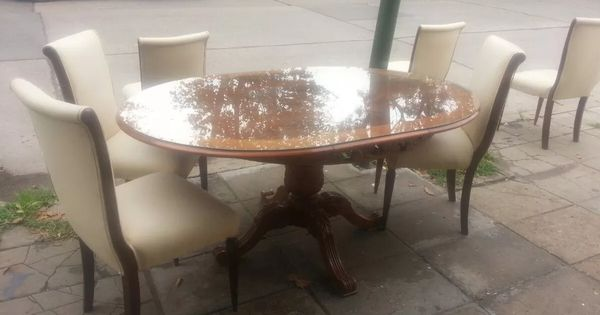 Juego de comedor luis xvi mesa 6 sillas mesas - Sillas luis xvi modernas ...