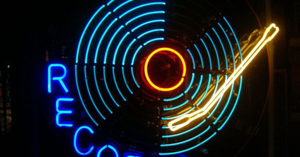 Pin By Em Poff On Music Neon Neon Signs Vinyl Records