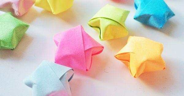 Comment faire des toiles en origami lucky star - Comment faire une etoile en papier facile ...