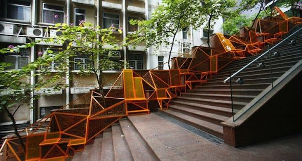 seating steps boston installation landscape architecture