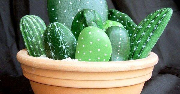 Pebble Pinturas Idea: Cactus
