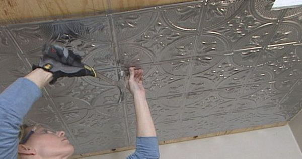 How To Install Tin Ceiling Tiles How To Diy Network