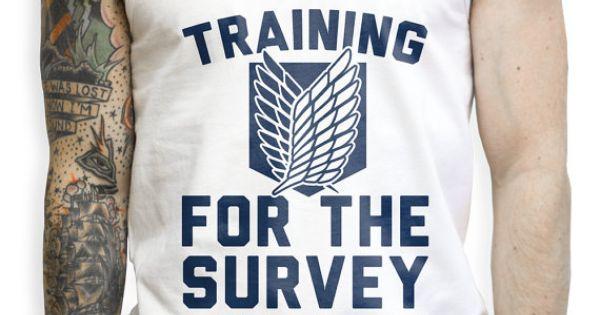 Training For The Survey Corps Tank Top Tshirt Cool Boy Swag Fashion Menswear Street