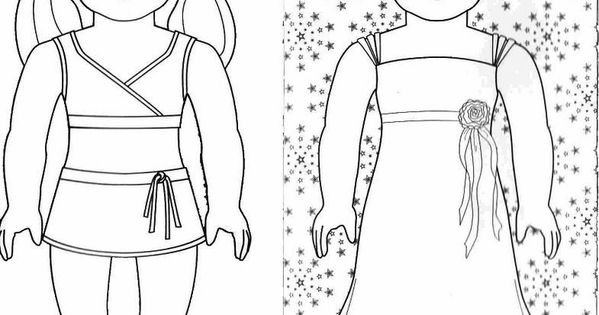american girl doll tenney coloring pages | American girl doll coloring pages free Photo - 1 | American girl | Pinterest