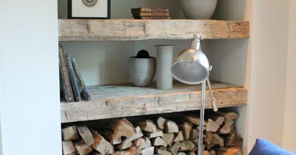 brennholz richtig lagern wohnzimmer nische kaminholz pinterest brennholz nische und lagern. Black Bedroom Furniture Sets. Home Design Ideas