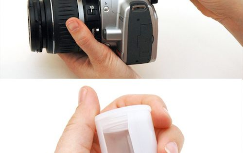 DIY:: film canister - flash diffuser